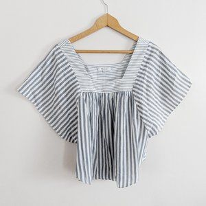 Madewell Stripe Dolman Sleeve Square Neck Blouse